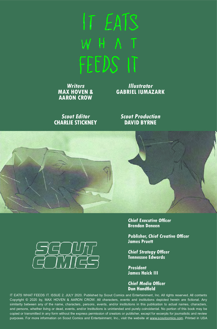 IT EATS WHAT FEEDS IT #2 SCOUT COMICS PREORDER 25 AUG 2020